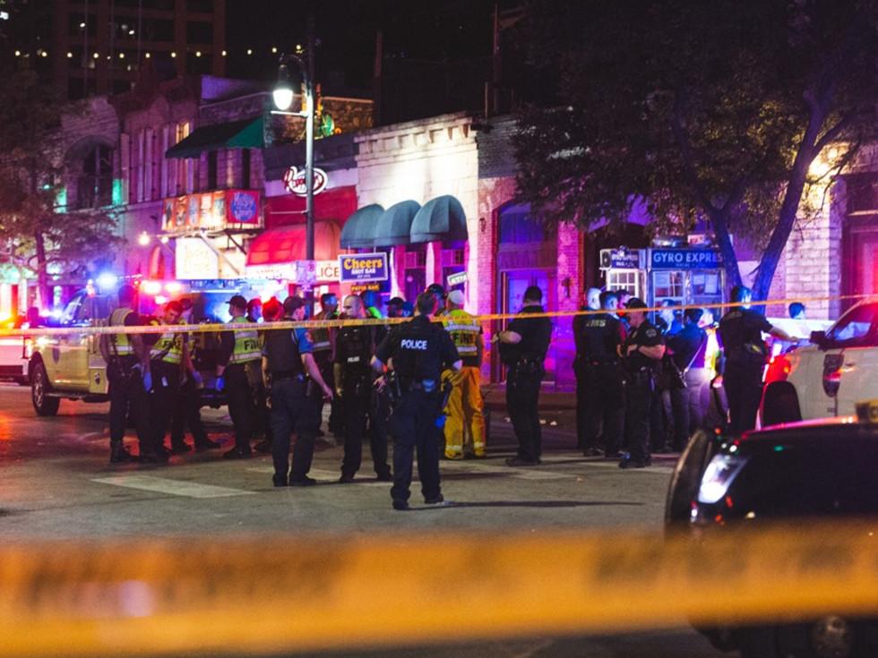 Austin Sixth Street mass shooting scene