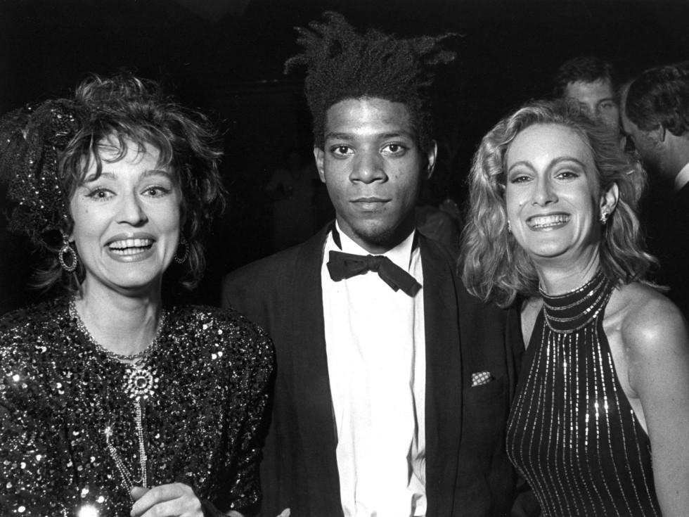 Jean-Michel Basquiat at the opening of Primitivism in 20th Century Art, 1985