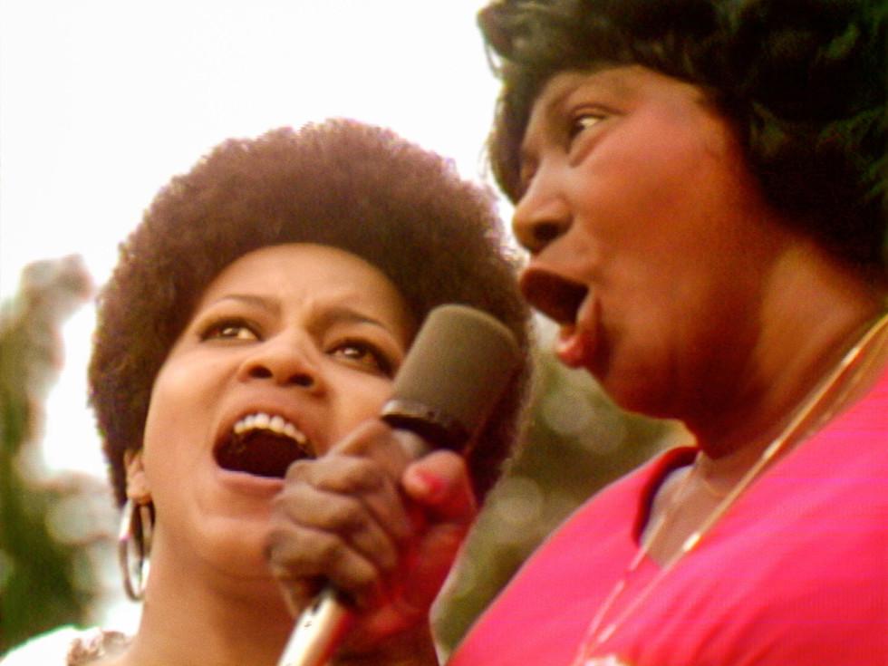 Mavis Staples and Mahalia Jackson in Summer of Soul