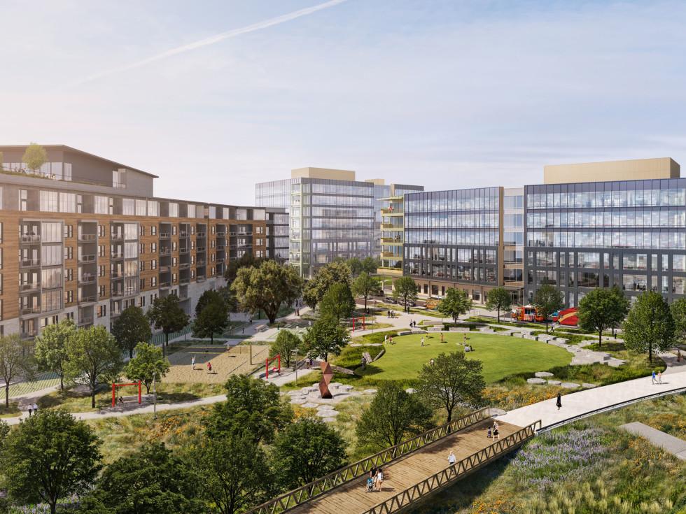 River Park mixed-use development on East Riverside