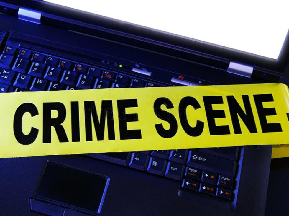 crime scene, laptop, computer
