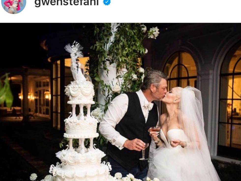 Gwen Stefani Blake Shelton wedding, Fancy Cakes by Lauren