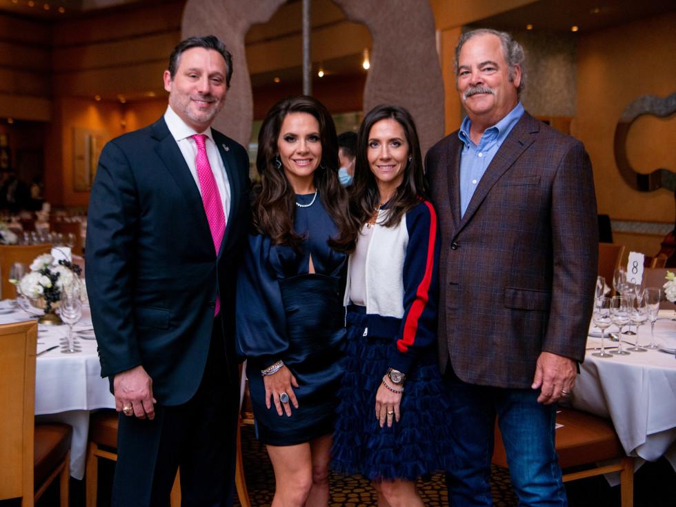 Tony's Wine Dinner The Women's Fund Brad & Joanna Marks, Hannah & Cal McNair