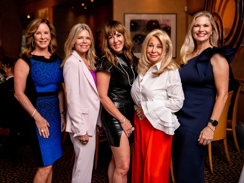 Tony's Wine Dinner The Women's Fund Miriam McClendon, Stephanie Perkins, Michele Till, Sherri Zucker, Amy Pierce