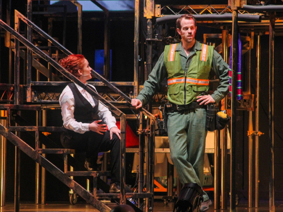 Molly Searcy and Alex Organ in Dallas Theater Center's Working: A Musical