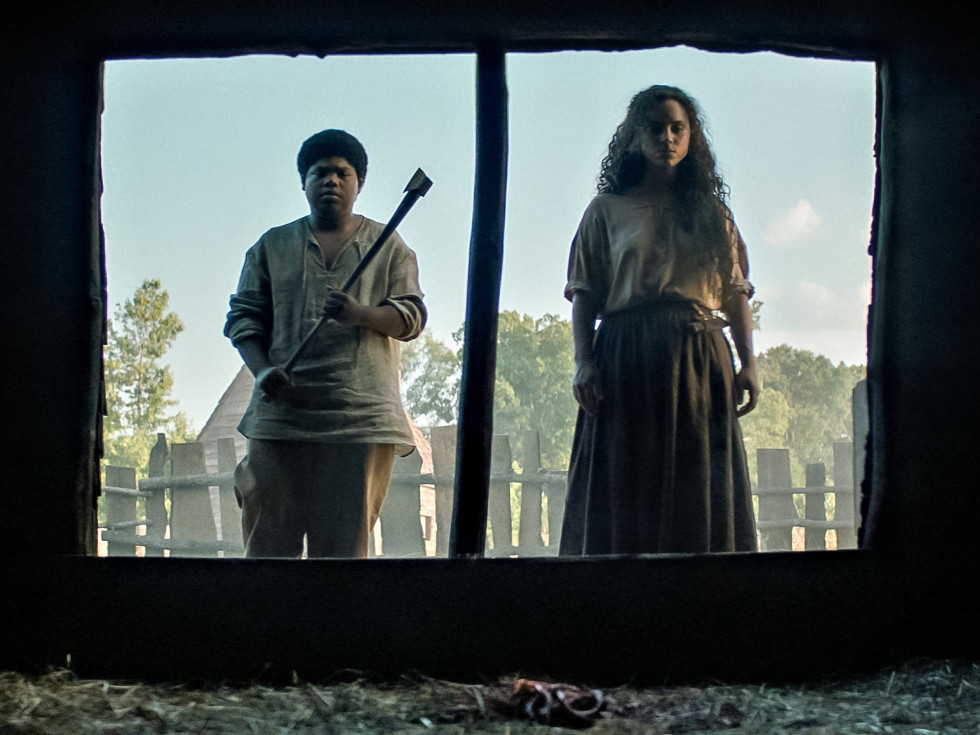 Benjamin Flores, Jr. and Kiara Medeira in Fear Street Part Three: 1666
