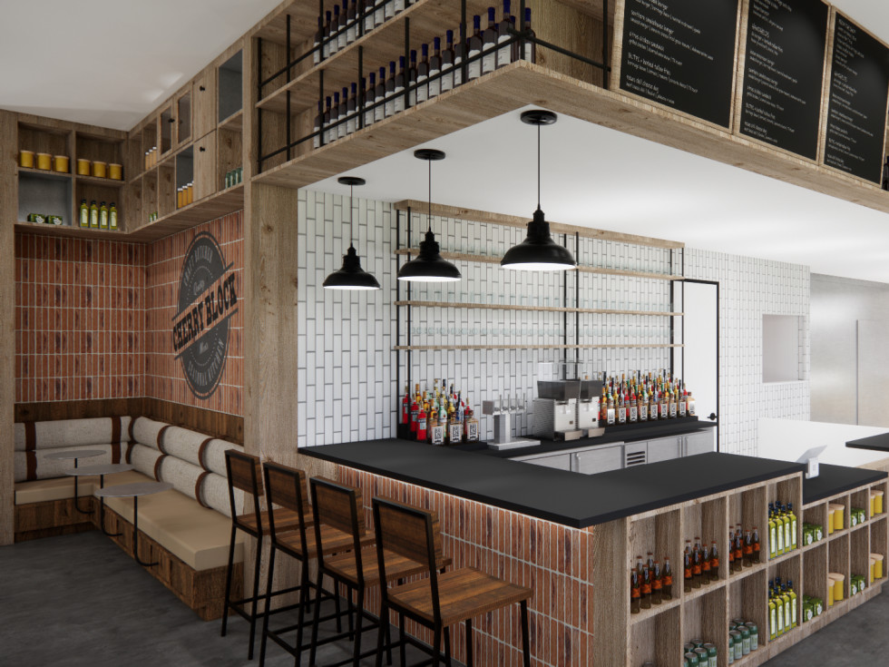 Cherry Block Craft Butcher and Kitchen counter rendering