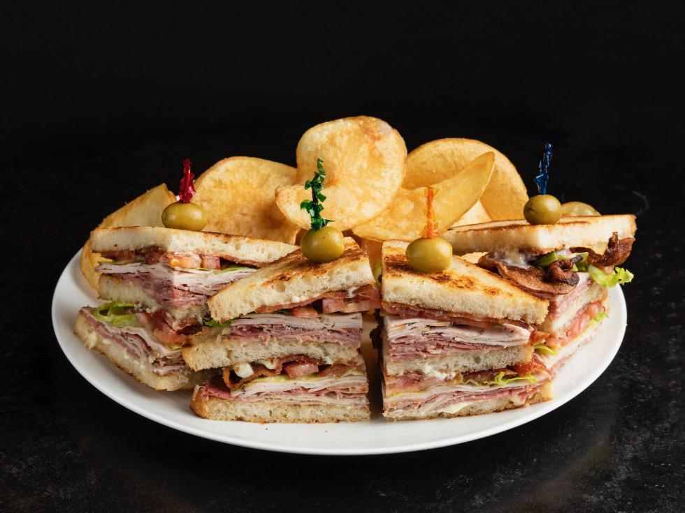 Georgia James Tavern Javi's Club Sandwich
