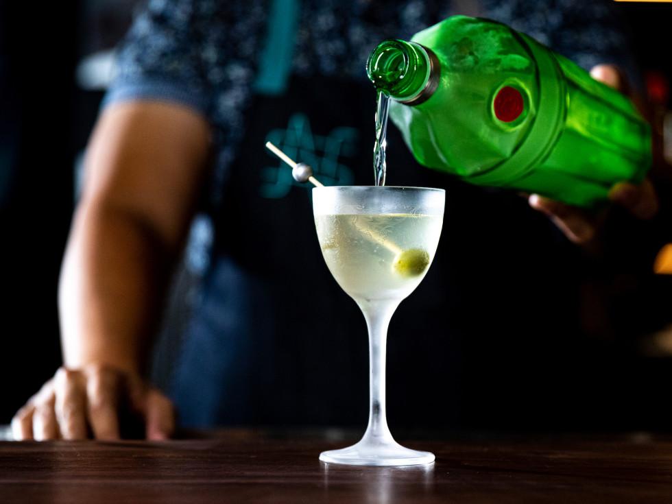 Night Shift freezer martini cocktail
