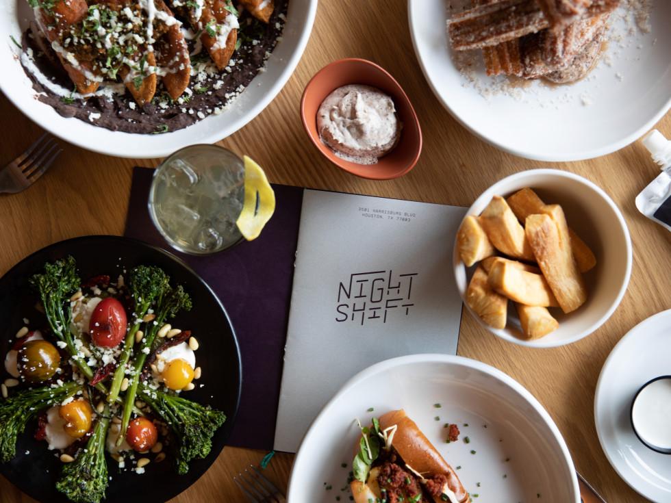 Night Shift food spread