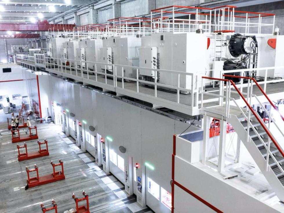 Tesla factory stamping press Austin