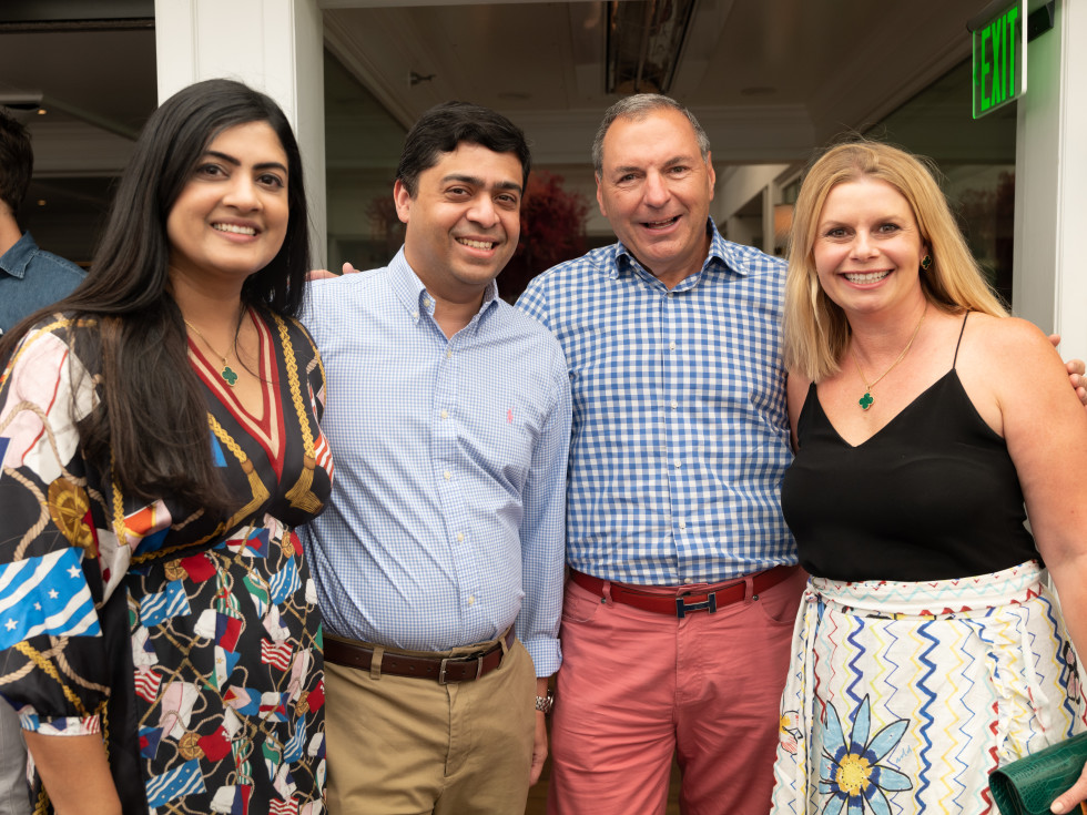 Elevated Connections Memorial Hermann Aspen Ishwaria and Vivek Subbiah; Tracy and Valerie Dieterich