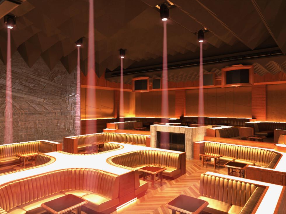 Wyld Chld nightclub interior rendering
