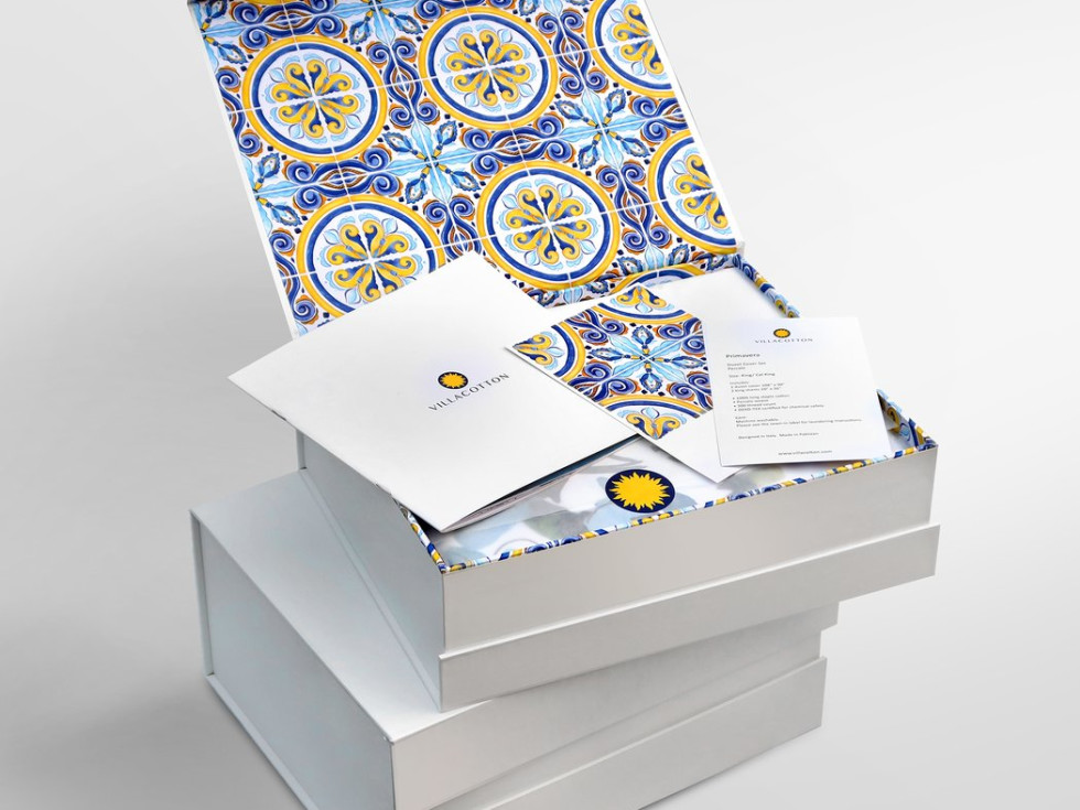 Villa Cotton packaging