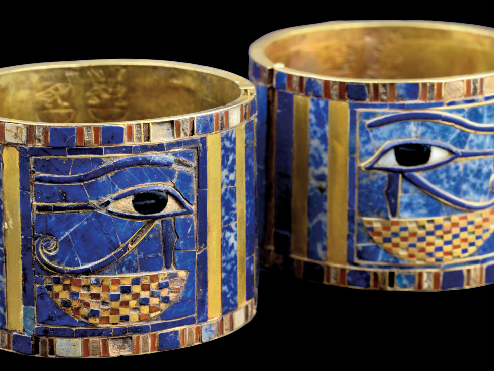 Ramses the Great and the Gold of the Pharaohs Houston Museum of Natural Science Gold Bracelet of Sheshonq I with Wedjat Eye