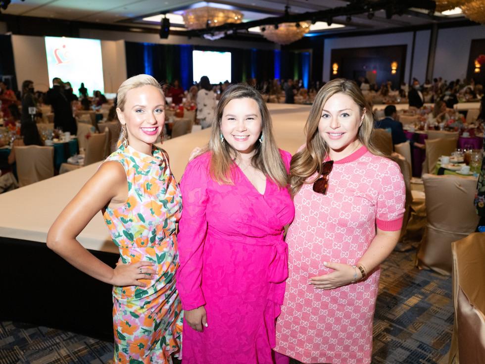 LWI Houston 2021 fashion show luncheon Alessandra Postema, Mari Glass, Lexi Marek
