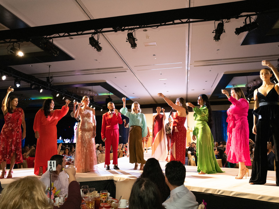 LWI Houston 2021 fashion show luncheon runway toast