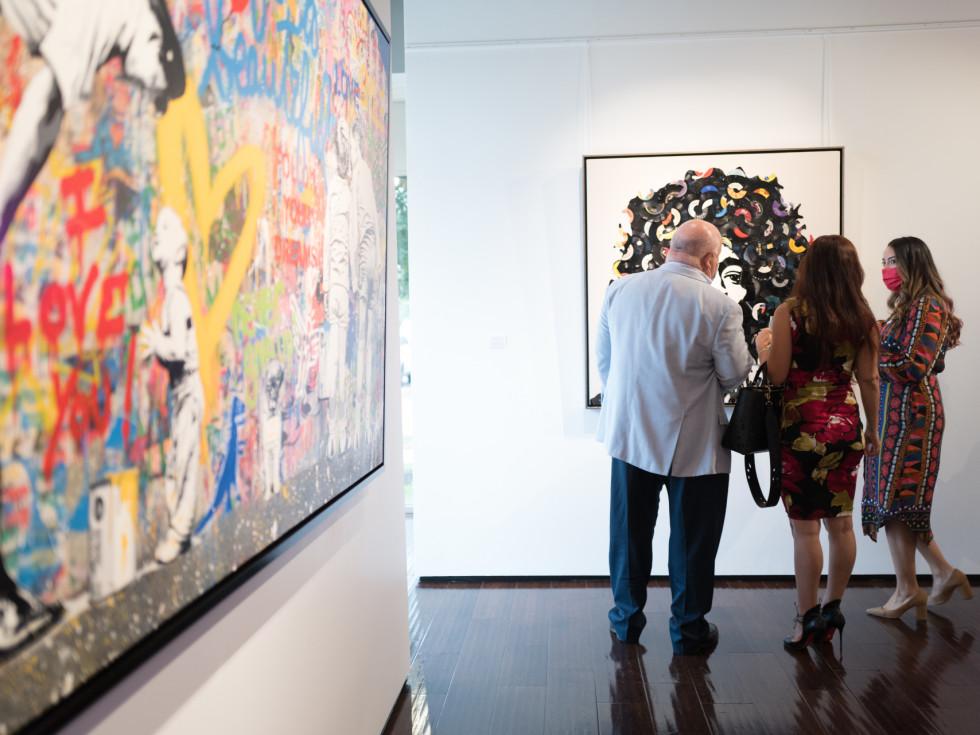 Arts, Hearts, Cars Art of the World Gallery Mr Brainwash Brett Dupre, Sara Perry, Rebecca Rios