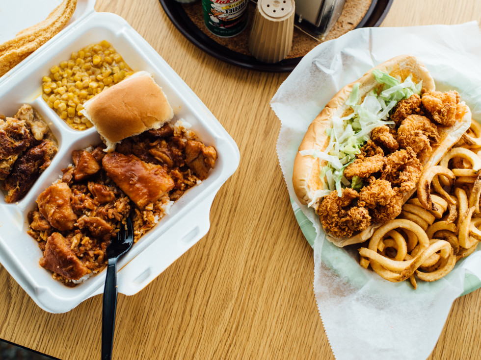 Lunch to-go in boxes