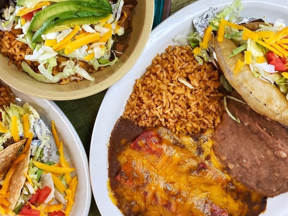 Tia's Taco Hut enchiladas