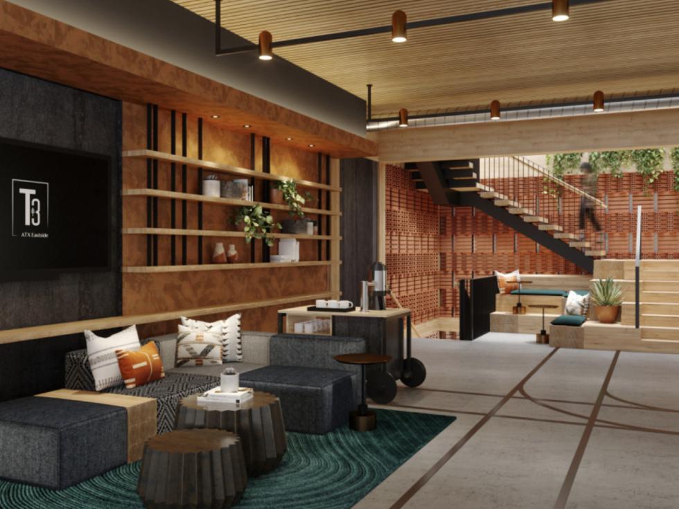 T3 Eastside rendering indoors
