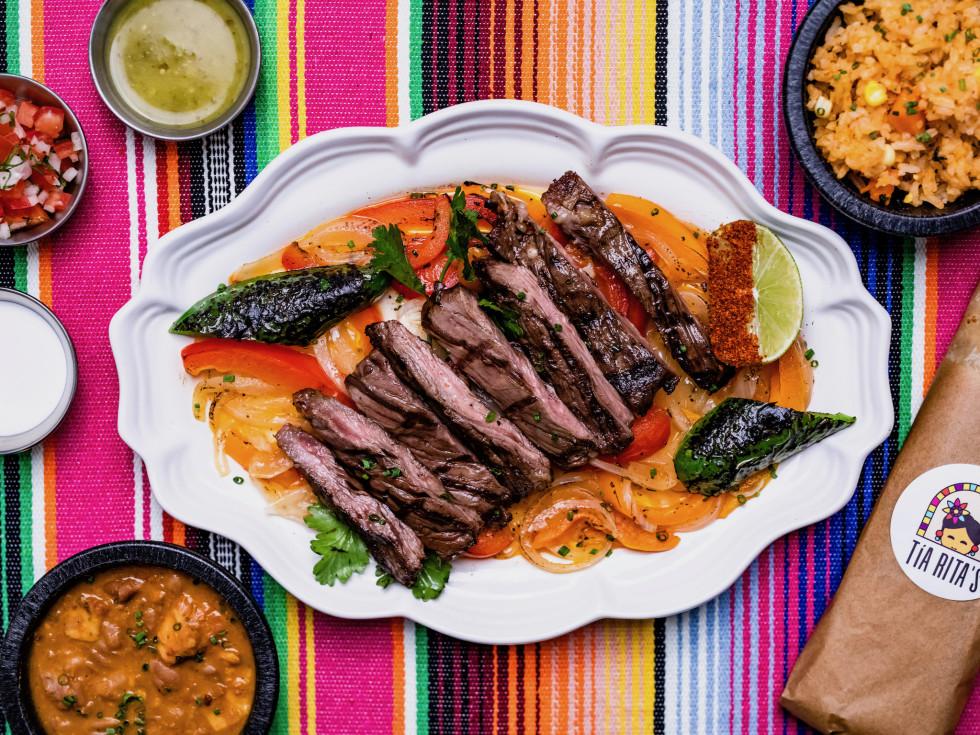 Click Click Chew Tia Maria's beef fajitas