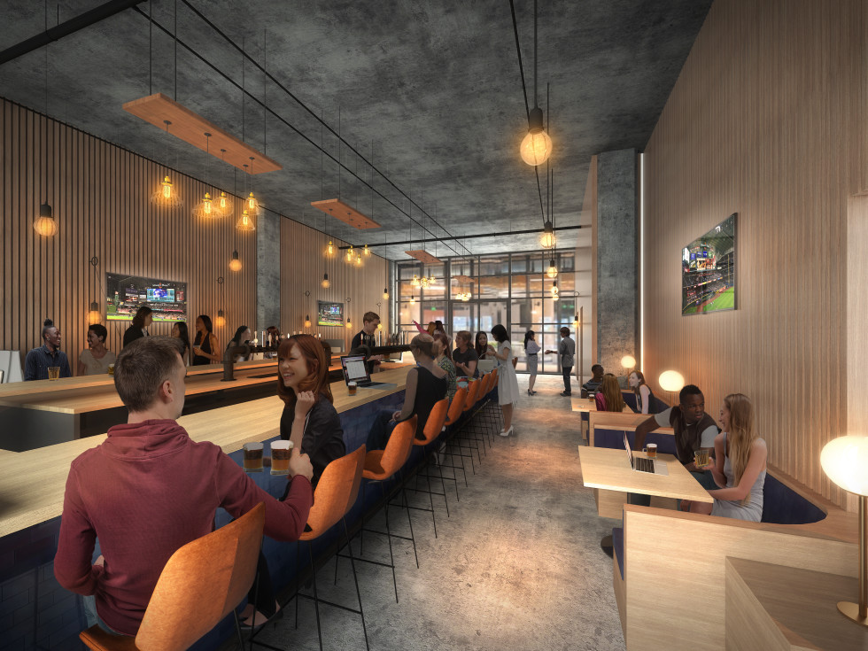 Second Draught taproom rendering The Ion