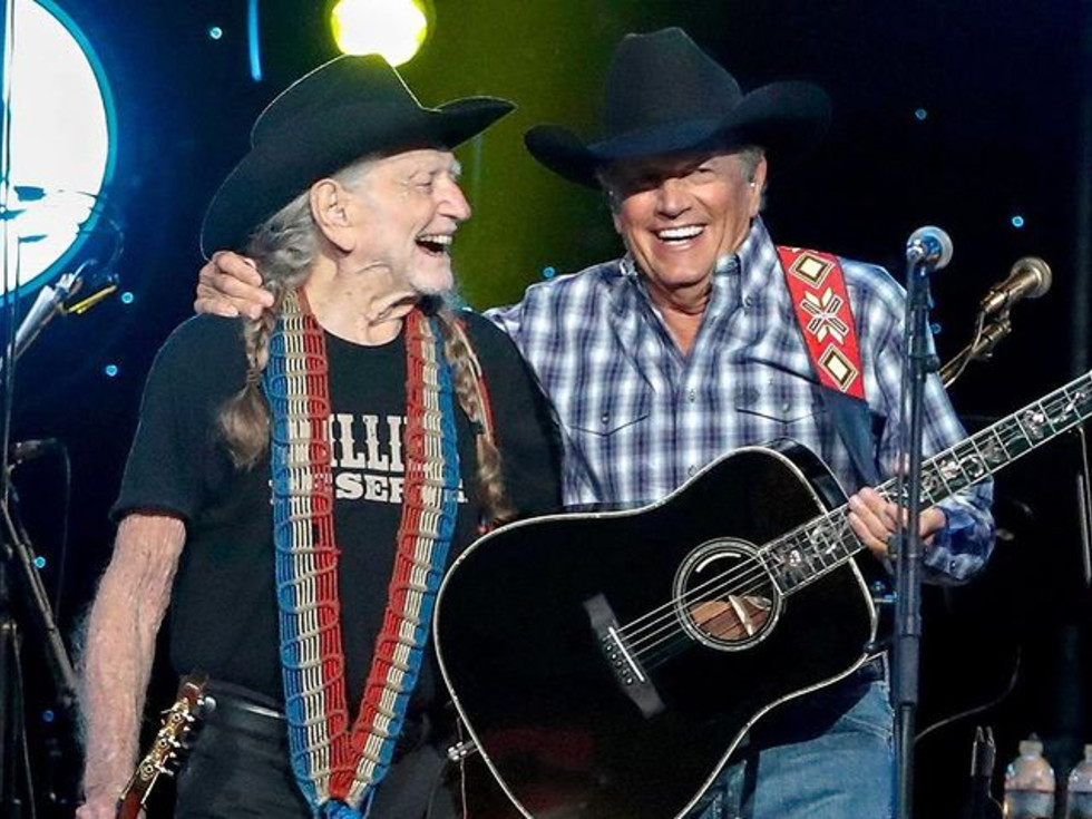 George Strait and Willie Nelson
