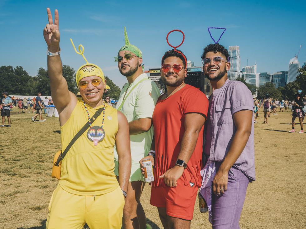 Telletubbies costume ACL Fest 2021