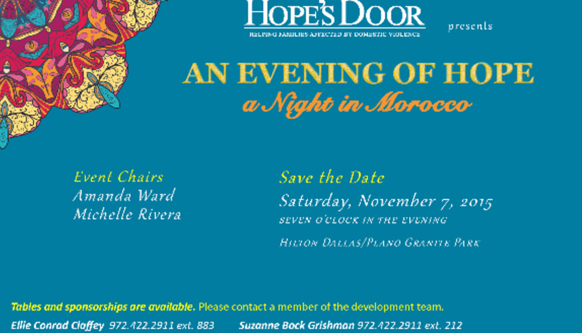 Hope's Door presents An Evening of Hope Gala – A Night in
