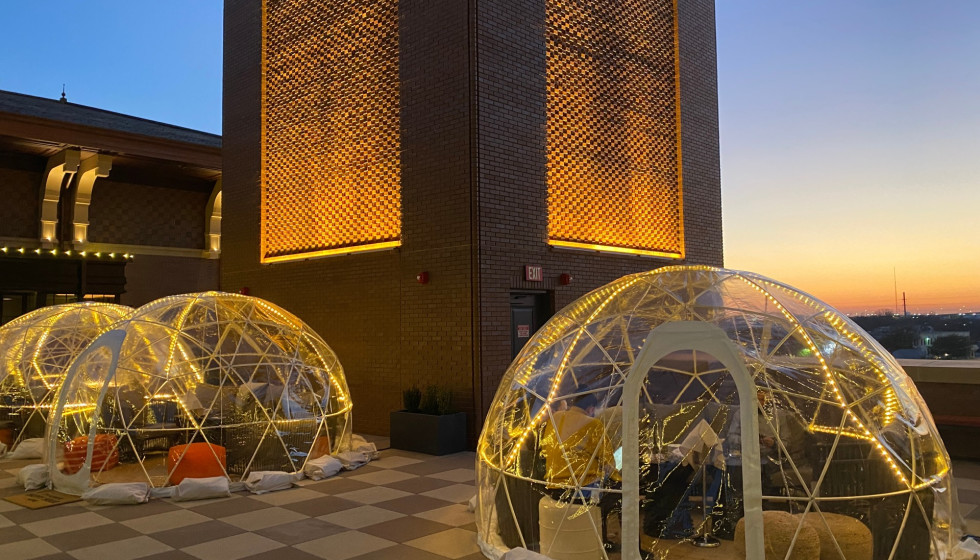 Hotels with weatherproof rooftop 'igloos' are a thing in Dallas-Fort Worth