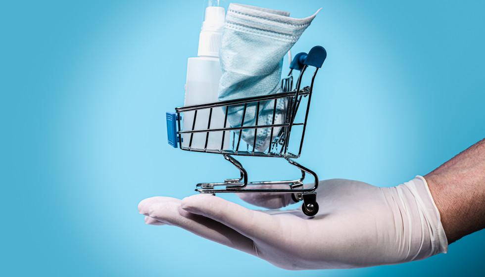shopping cart mask hand sanitizer