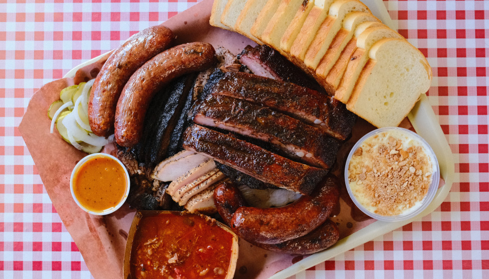 Goldee's Barbecue BBQ tray