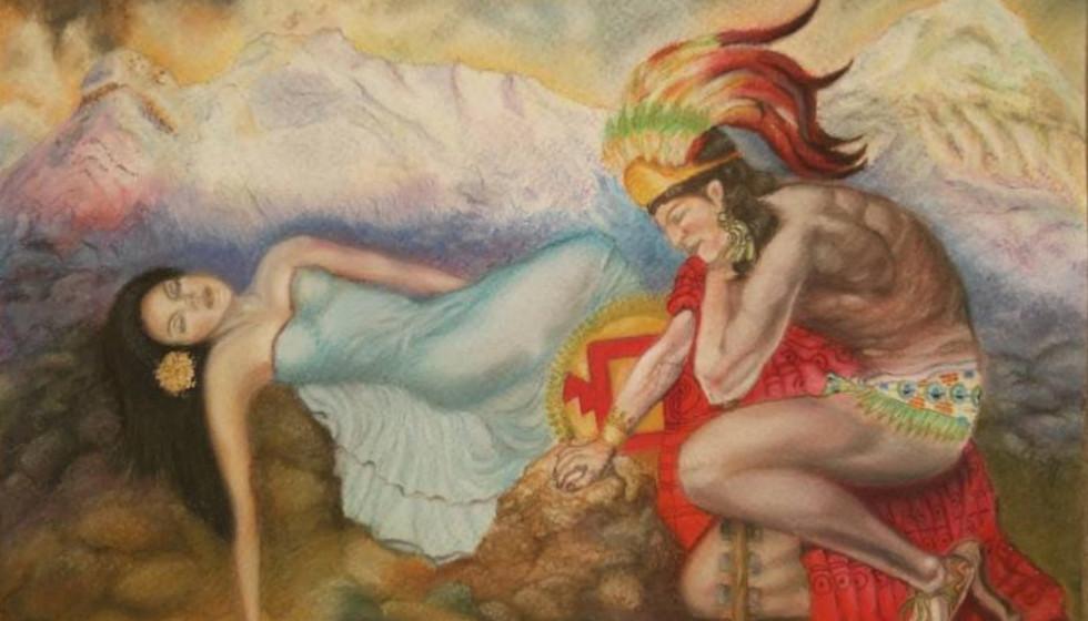 Popocatepetl Y Iztaccihuatl mexican romeo juliet