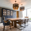 Houzz Houston house home 1960s London Texas style dining room midcentury