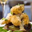 Fried oysters at Ellerbe Fine Foods