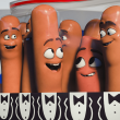Jonah Hill, Michael Cera, and Seth Rogen in Sausage Party