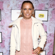 Caroline Wozniacki arrives as HSN Presents Serena Williams Signature Statement Collection Fashion Show