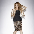 Thalia gold jacket, leopard skirt at Macy's