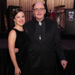 Performer Kelley Peters and Theodore Award recipient Ted Swindley at Stages Gala 2017