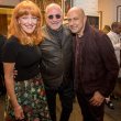 John Varvatos, Gracie and Bob Cavner at book signing
