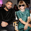 Drake and Anna Wintour at HSN Serena Williams Signature fashion show
