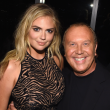 Kate Upton and Michael Kors at Kors Gold fragrance launch