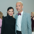 Marc Nguyen, Duyen Huynh at Oscar de la Renta fashion show at MFAH