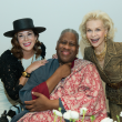 Cherri Flores, Andre Leon Talley, Lynn Wyatt at Oscar de la Renta fashion show at MFAH