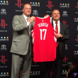 Houston, Rockets CEO Tad Brown and owner Tilman Fertitta, Oct 2017