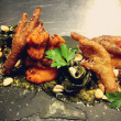 Fried chicken feet at Small Brewpub