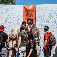 ACL Austin City Limits Music Festival 2016 autograph wall