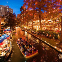 San Antonio River Walk Christmas Lights