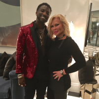 Theresa Roemer, Gucci Mane at rap video shoot